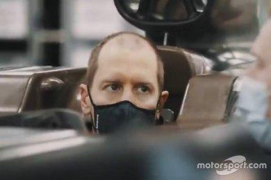 Aston Martin, Vettel'in kokpit içer...